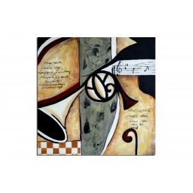 Spectaculaire mélodie - tableau peint-main peinture à l'huile