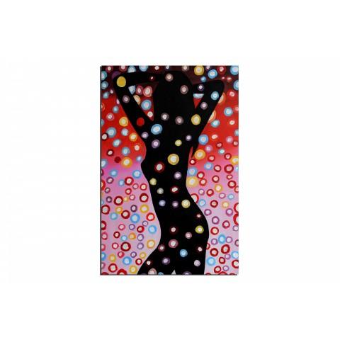Danse sous une pluie magique - tableau peint-main peinture à l'huile