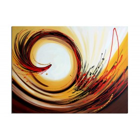 Au centre de la terre - tableau peint-main peinture à l'huile