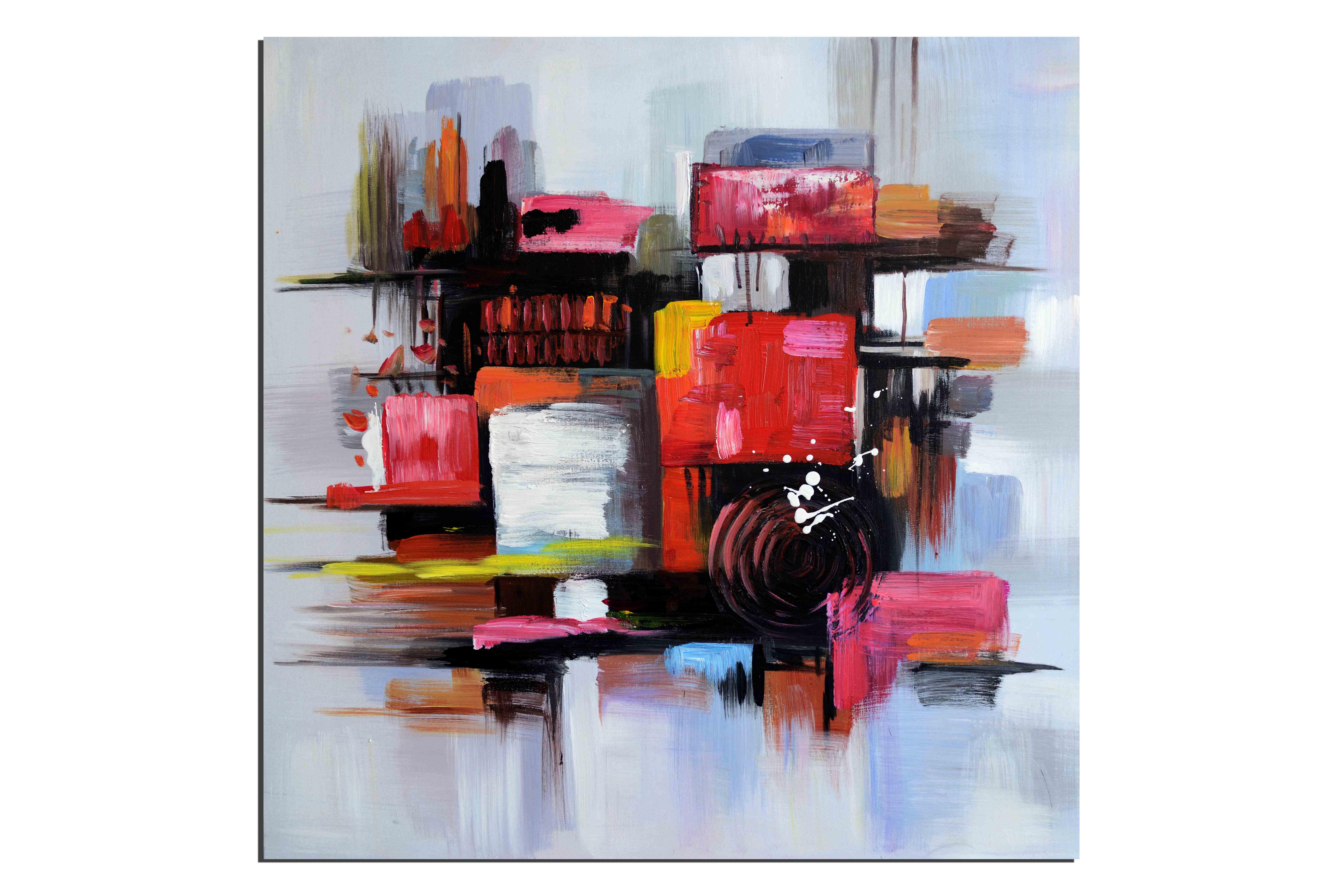 tableaux abstrait peinture sur toile contemporaine. Black Bedroom Furniture Sets. Home Design Ideas