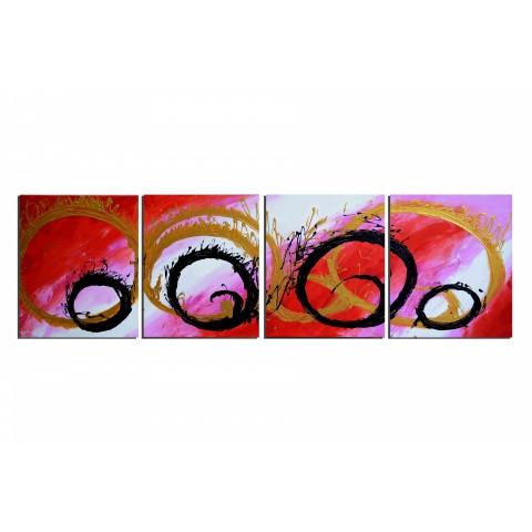 Rondeur féminine - tableau peint-main peinture à l'huile