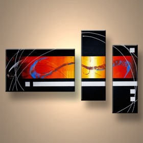 Energie canalisée - tableau peint-main peinture à l'huile