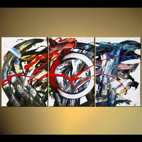 Impressions urbaines - tableau peint-main peinture à l'huile
