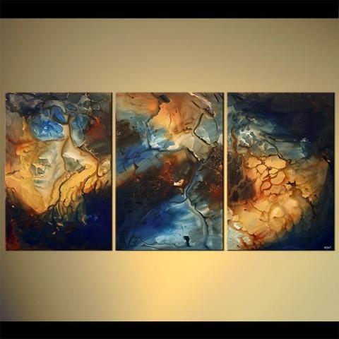 Vue d'en haut - tableau peint-main peinture à l'huile