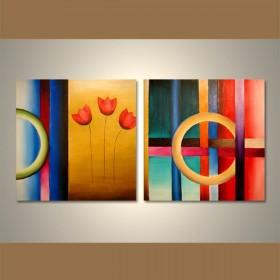 Tableau abstrait peinture acheter des tableaux deco ruedestableaux - Decoration murale contemporaine ...