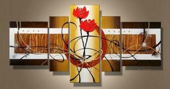 Pivoines - tableau peint-main peinture à l'huile