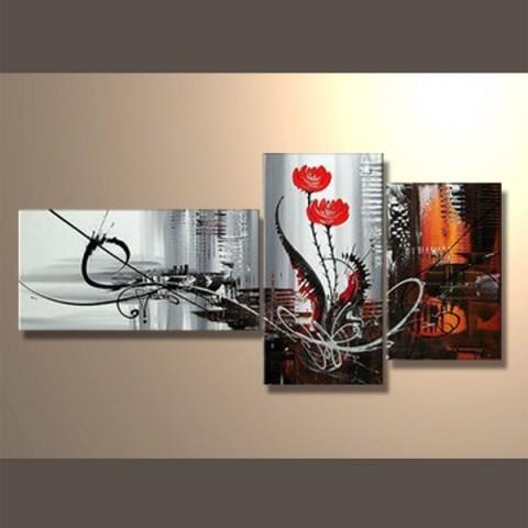 tableaux nature peinture sur soie tableaux triptyque. Black Bedroom Furniture Sets. Home Design Ideas