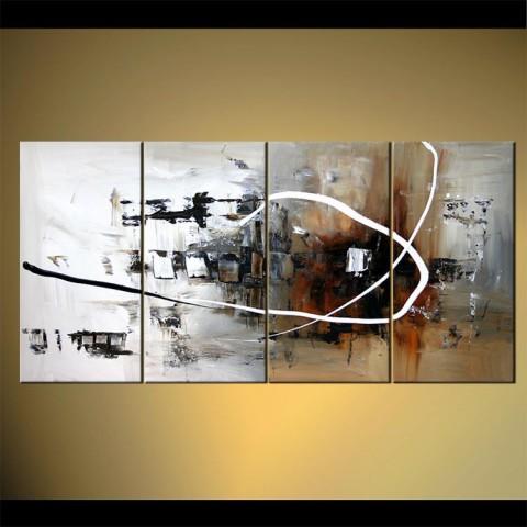 Métal tourmanté - tableau peint-main peinture à l'huile