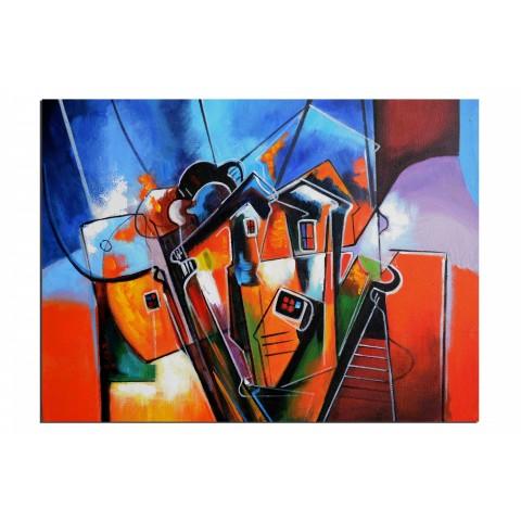 Graph urbain - tableau peint-main peinture à l'huile