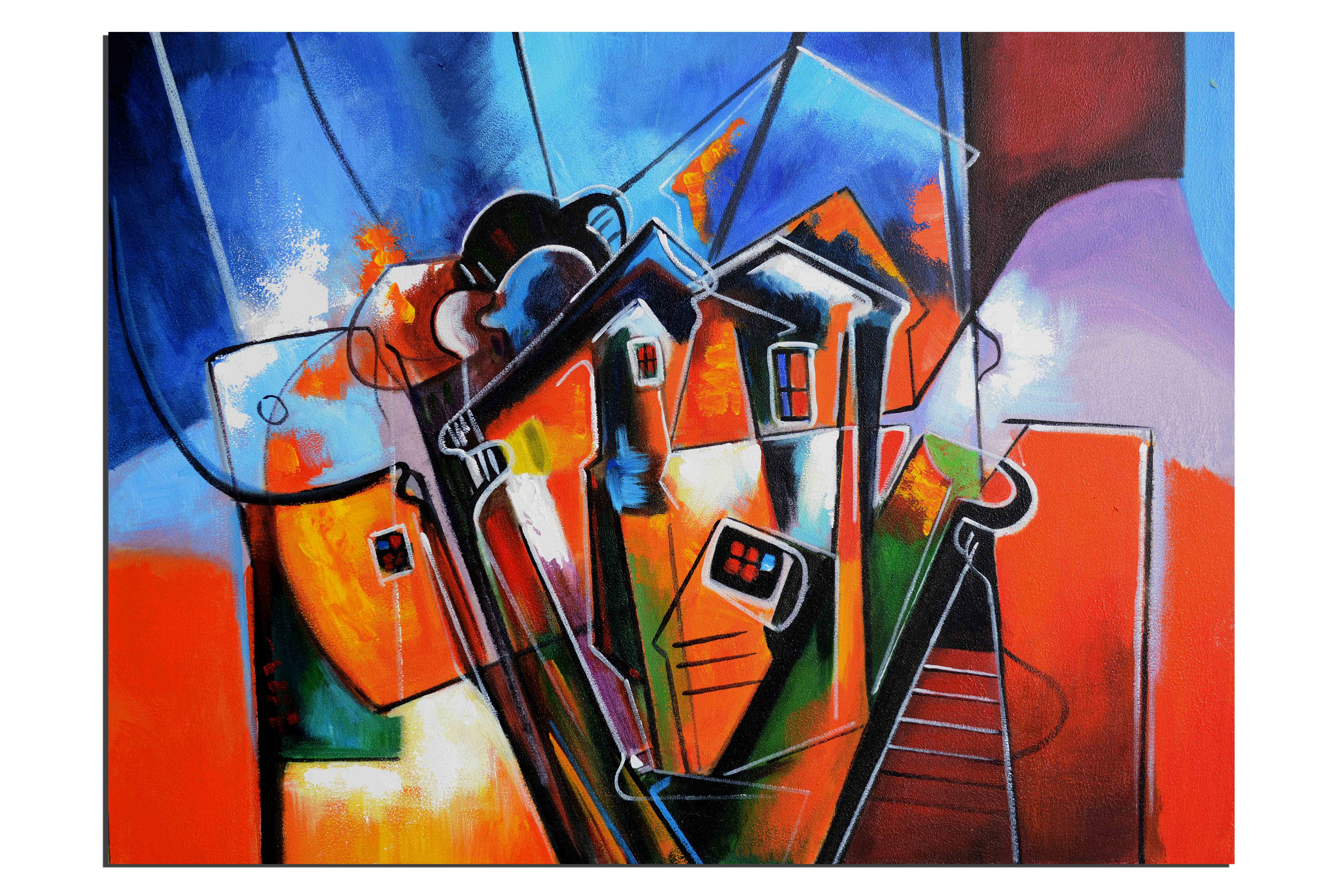 Tableaux abstrait decoration contemporaine tableau pas cher for Peinture a tableau