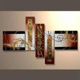 Ballet de spirales - tableau peint-main peinture à l'huile