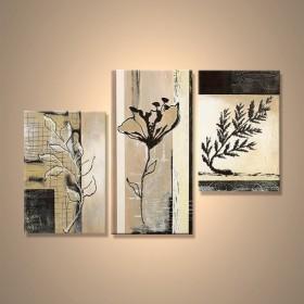 Herbier - tableau peint-main peinture à l'huile