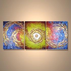 Etincelle flamboyante - tableau peint-main peinture à l'huile