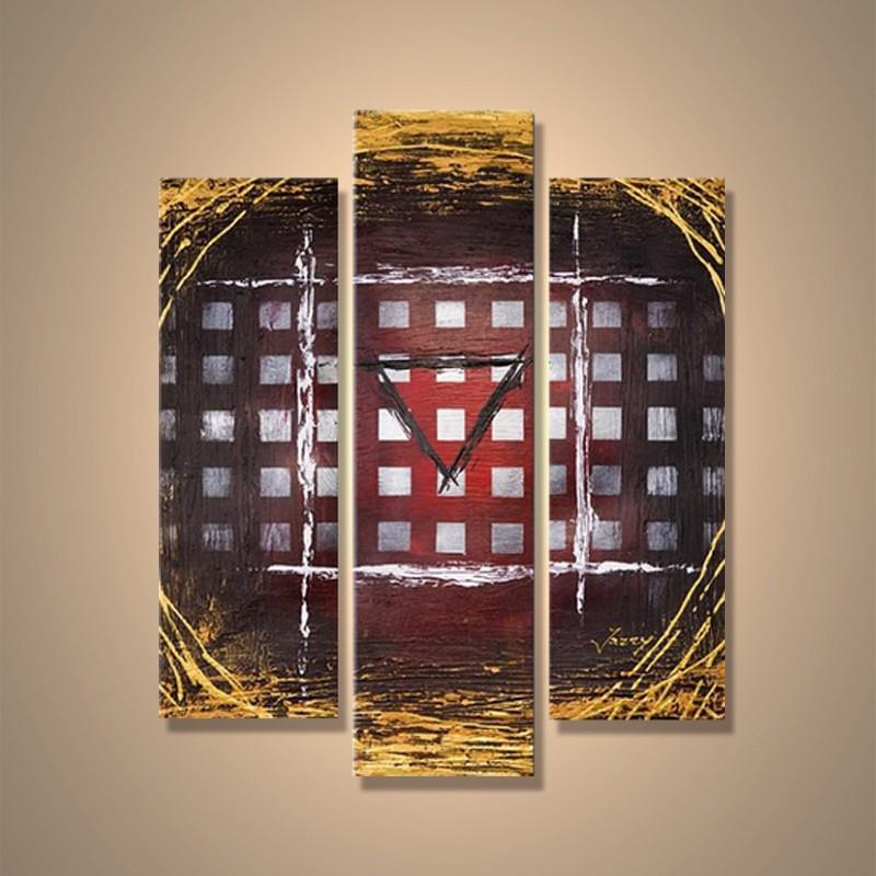 Géométrie - tableau peint-main peinture à l'huile