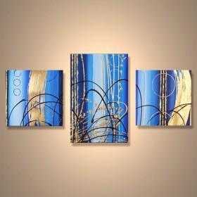 Rideau d'asur - tableau peint-main peinture à l'huile