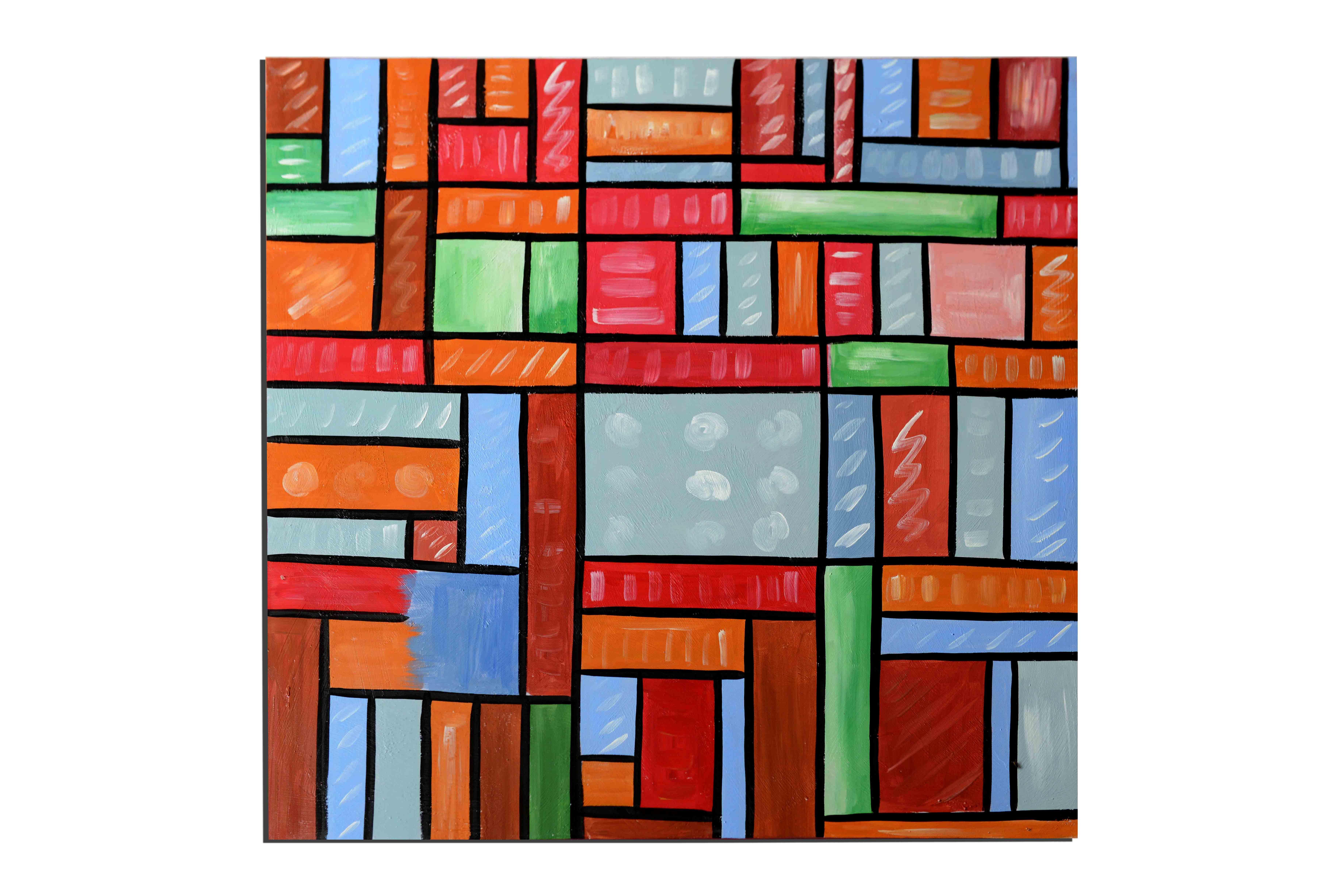 Cubisme - tableau peint-main peinture à l'huile