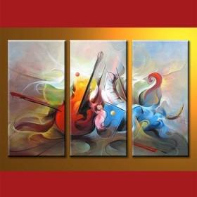Composition de l'au-delà - tableau peint-main peinture à l'huile