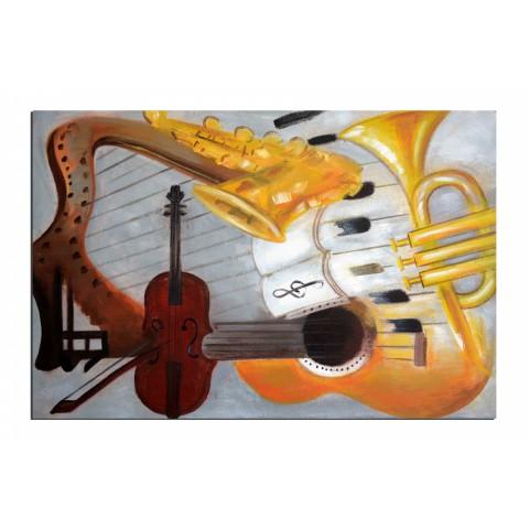Le joueur de violon - tableau peint-main peinture à l'huile