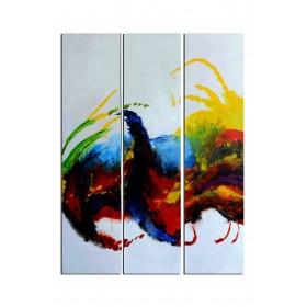 Paon - tableau peint-main peinture à l'huile