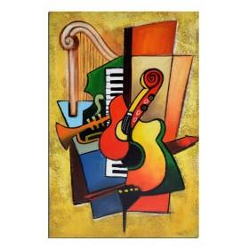 Instruments décomposés - tableau peint-main peinture à l'huile