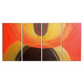 Promotions sur nos tableaux abstraits et tableaux deco - Tableau couleur chaude ...