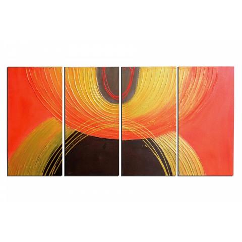 Chaude couleurs - tableau peint-main peinture à l'huile