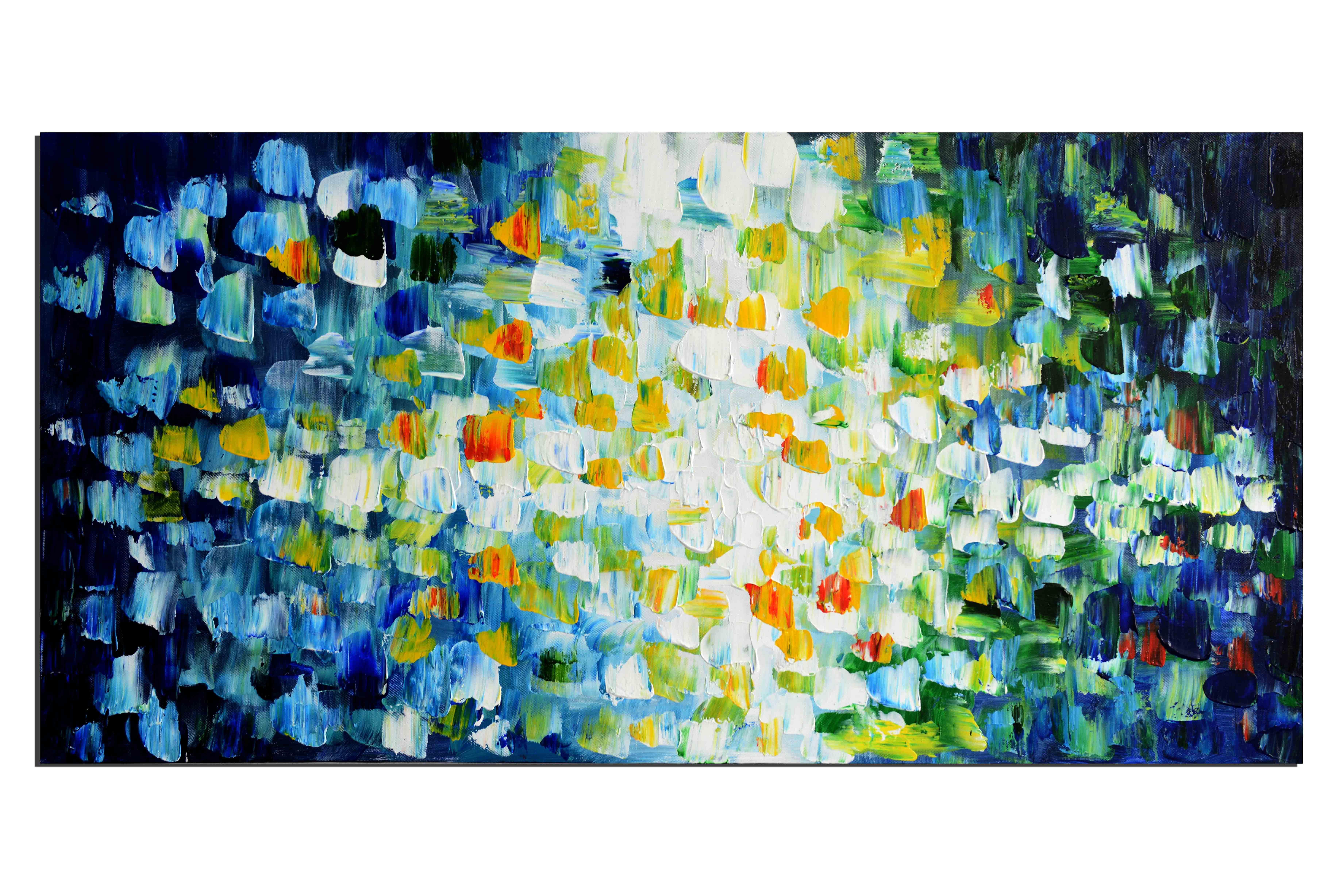 Pixels - tableau peint-main peinture à l'huile