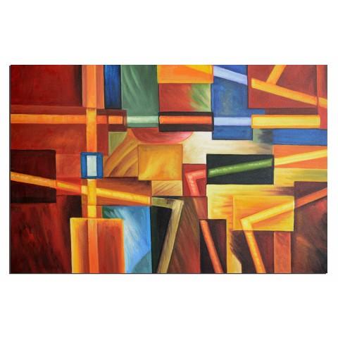 Plomberie fantastique - tableau peint-main peinture à l'huile