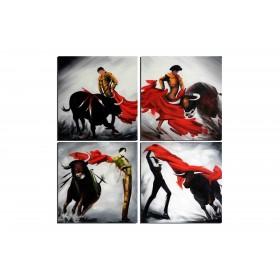 Corrida - tableau peint-main peinture à l'huile