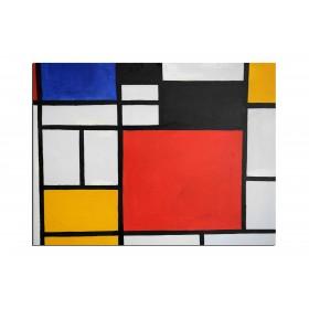 Mondrian - tableau peint-main peinture à l'huile