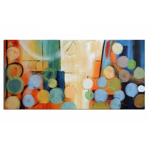 Bulles de vie - tableau peint-main peinture à l'huile