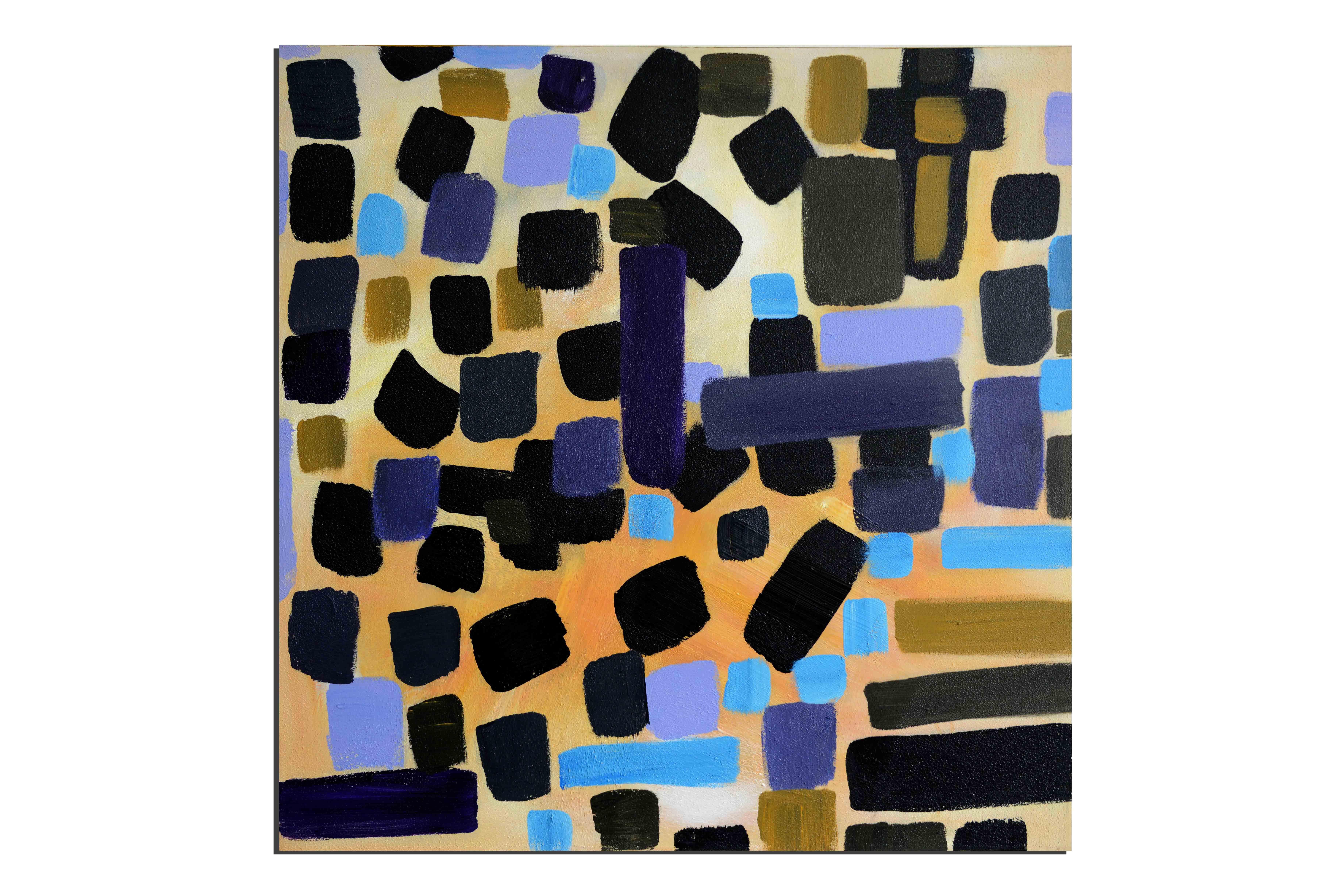 Procession - tableau peint-main peinture à l'huile