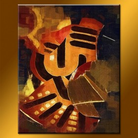 Composition automnale - tableau peint-main peinture à l'huile
