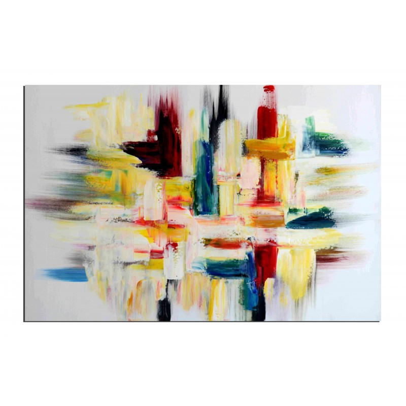 Tableaux abstrait peinture pas cher tableaux peintures modernes - Peinture a l huile prix ...
