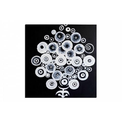 Bouquet rond - tableau peint-main peinture à l'huile