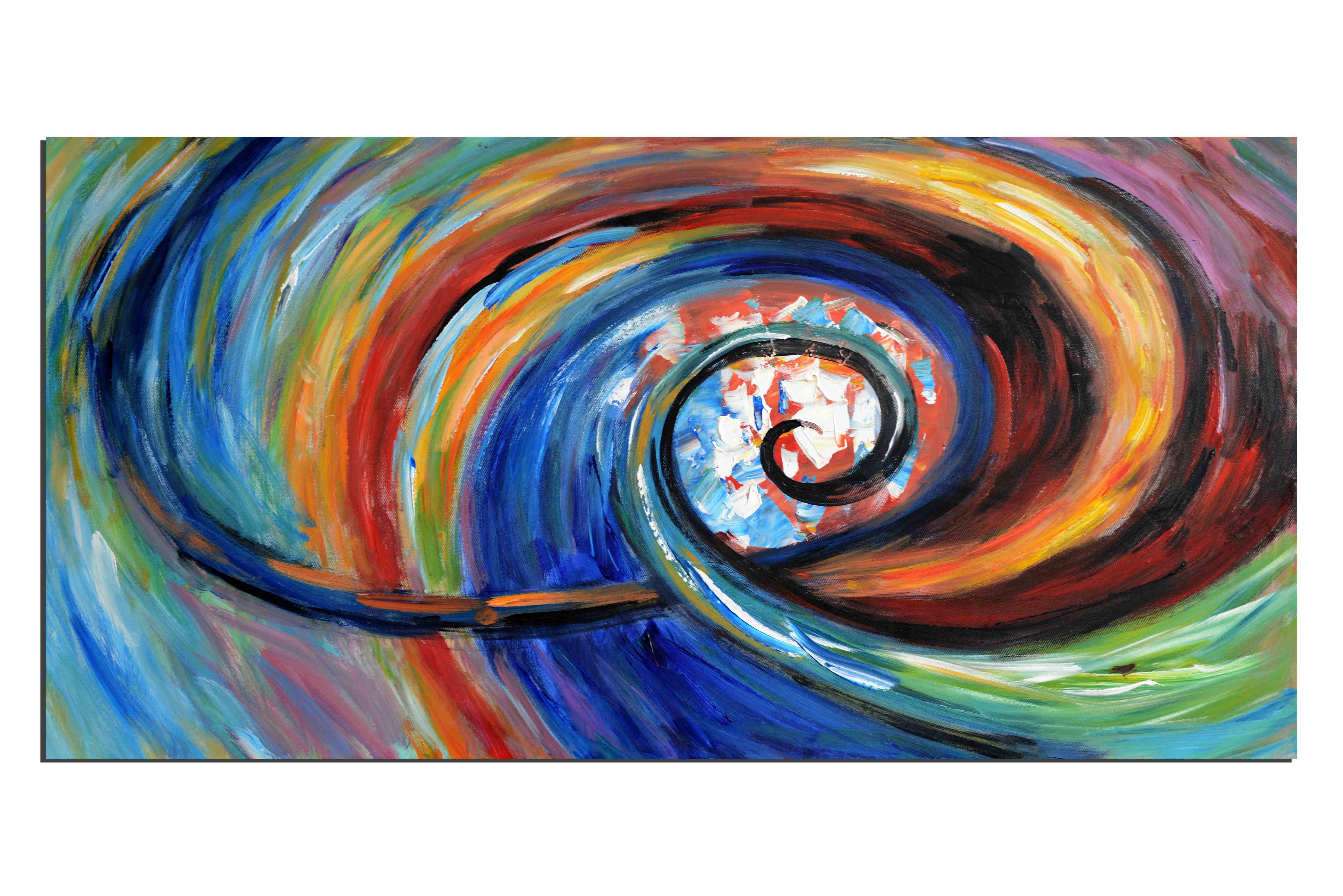 Tornade colorée - tableau peint-main peinture à l'huile