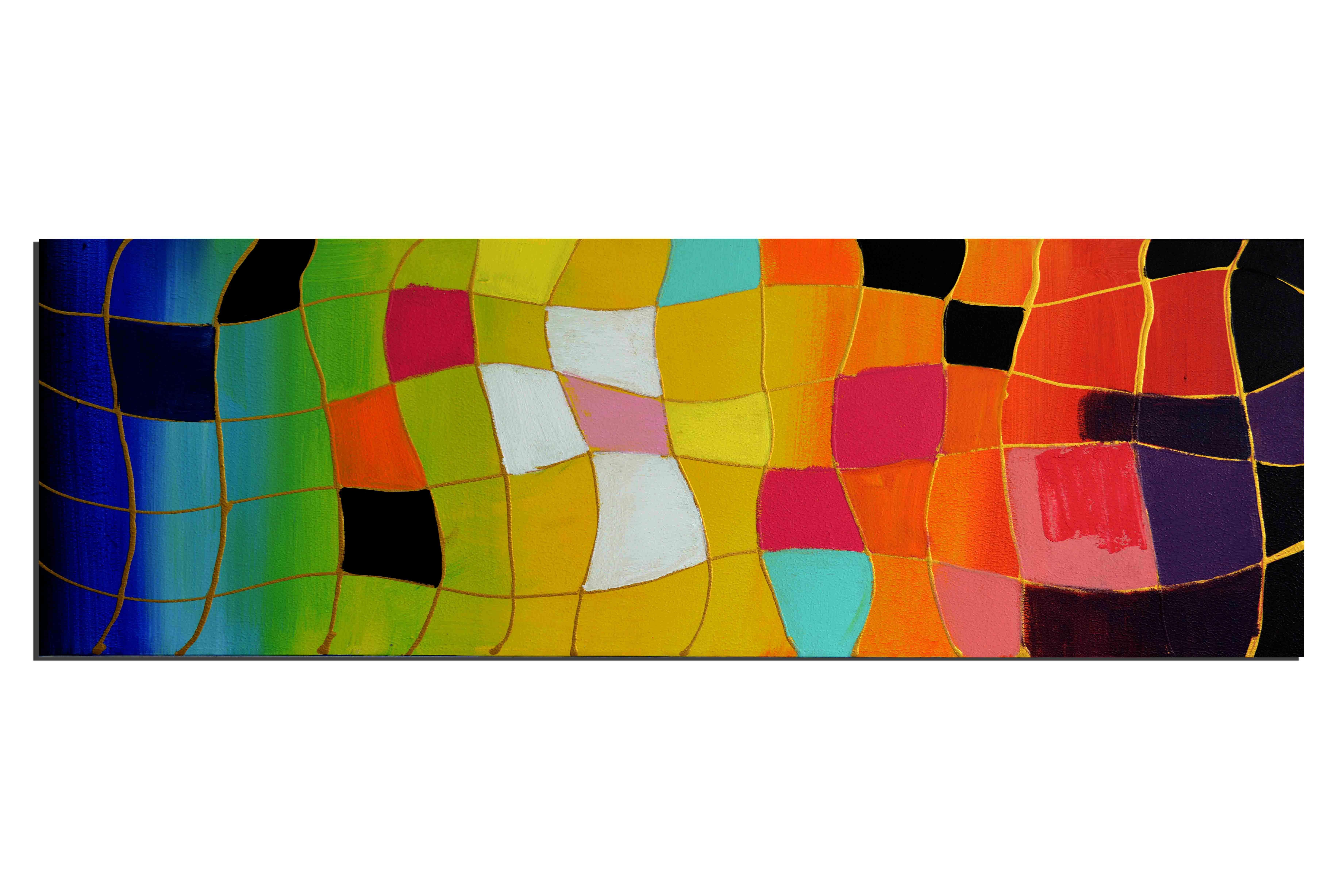 Arlequin flottant - tableau peint-main peinture à l'huile