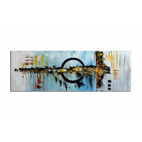 Dans le mile - tableau peint-main peinture à l'huile