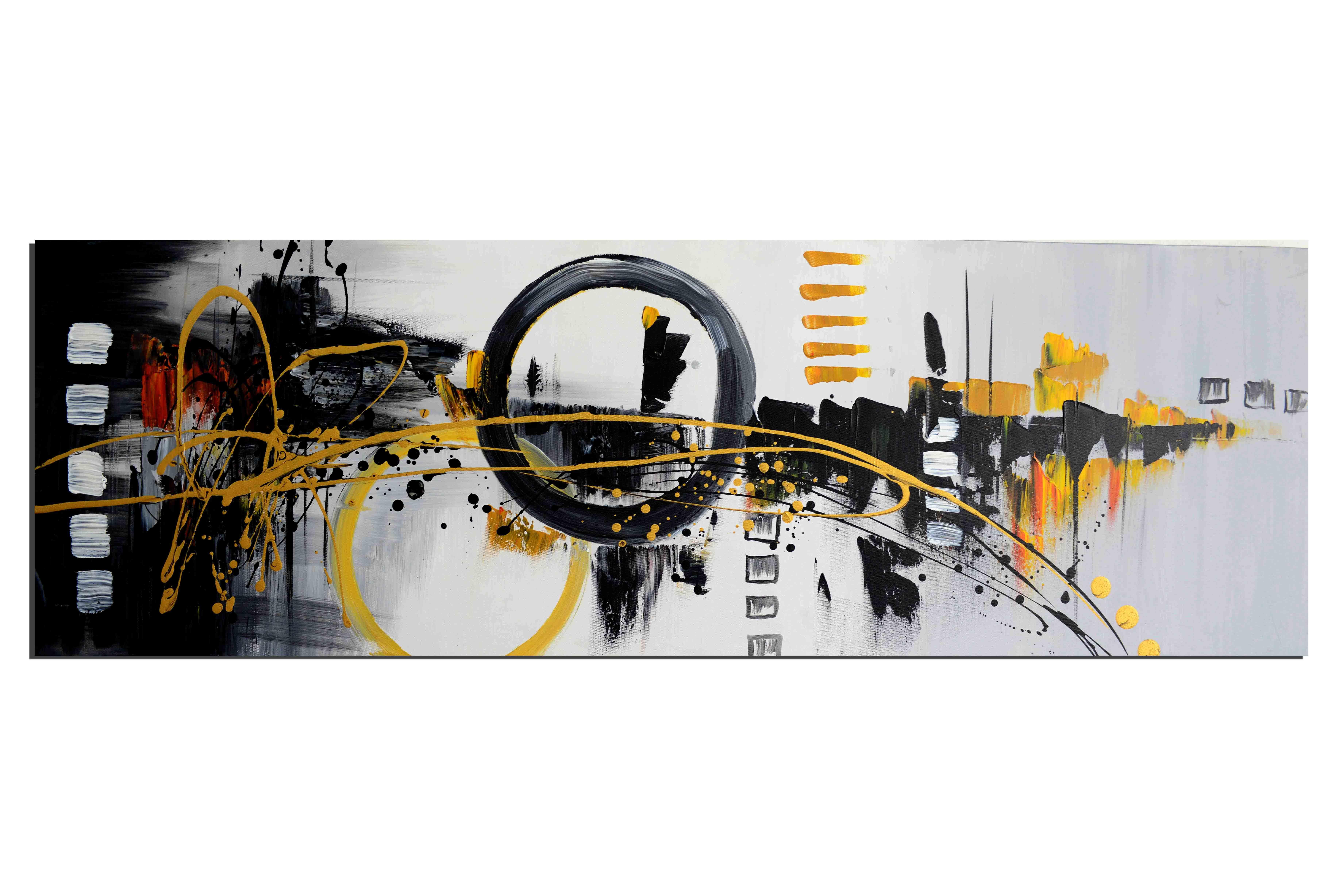 Traverser vers l'objectif - tableau peint-main peinture à l'huile