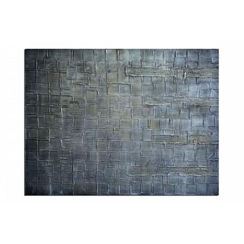 Tout en gris - tableau peint-main peinture à l'huile