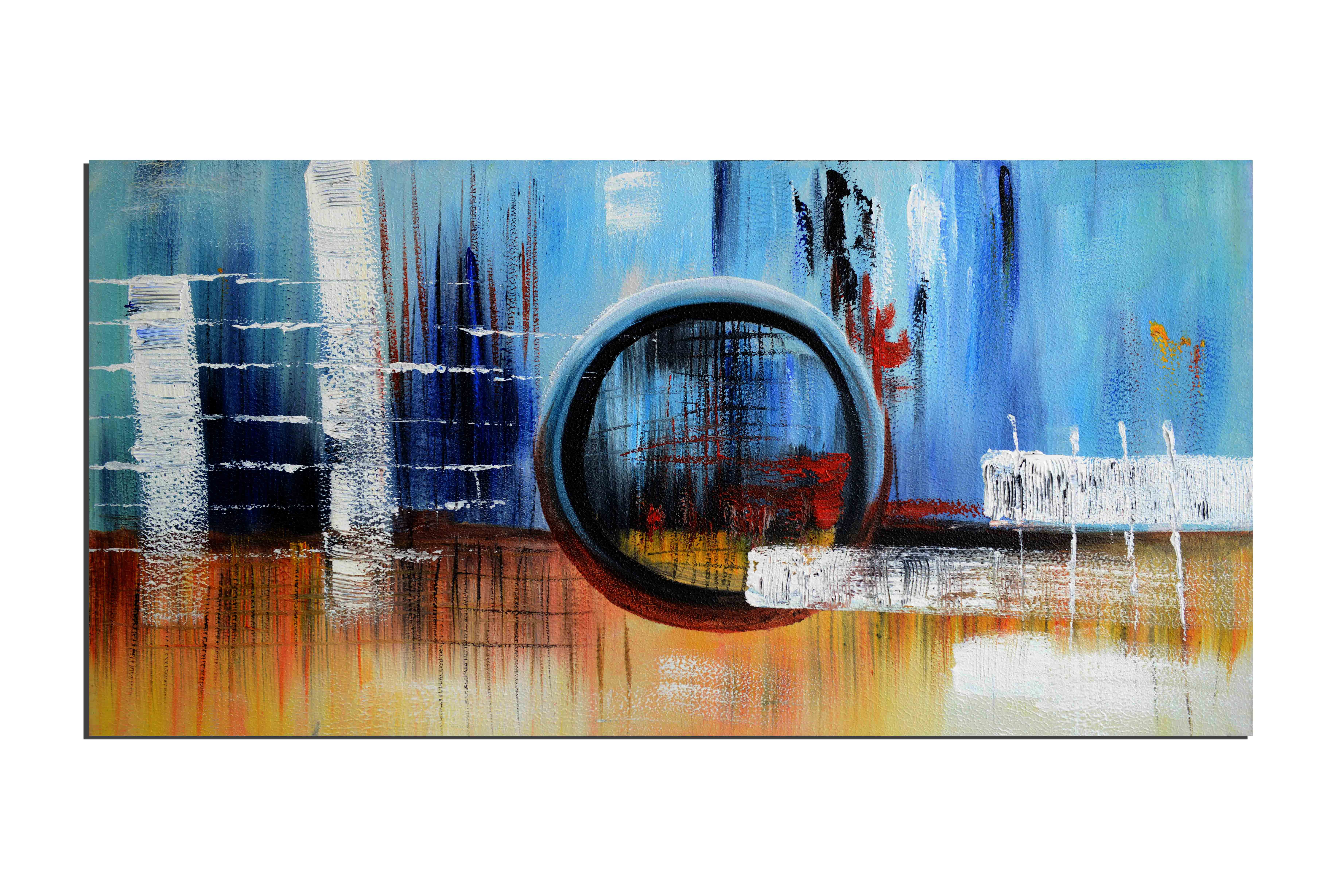 Hublo du navire - tableau peint-main peinture à l'huile