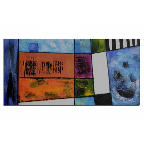 Linge au solail - tableau peint-main peinture à l'huile