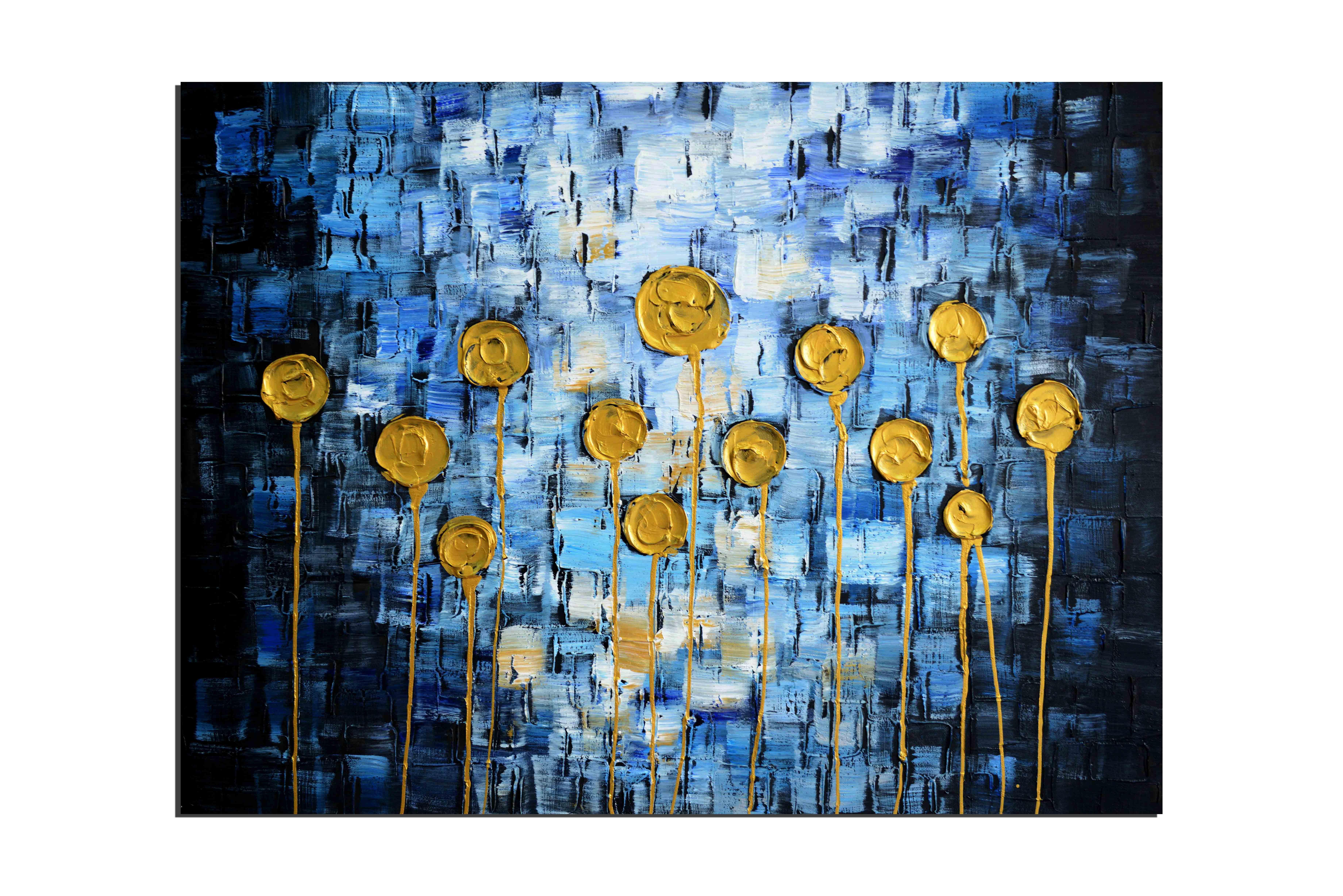 Tableaux abstrait peintures tableaux toile zen - Peinture a tableau ...