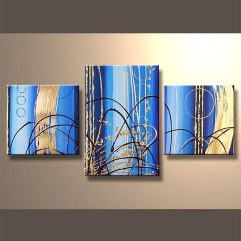Rideau d'asur 2 - tableau peint-main peinture à l'huile