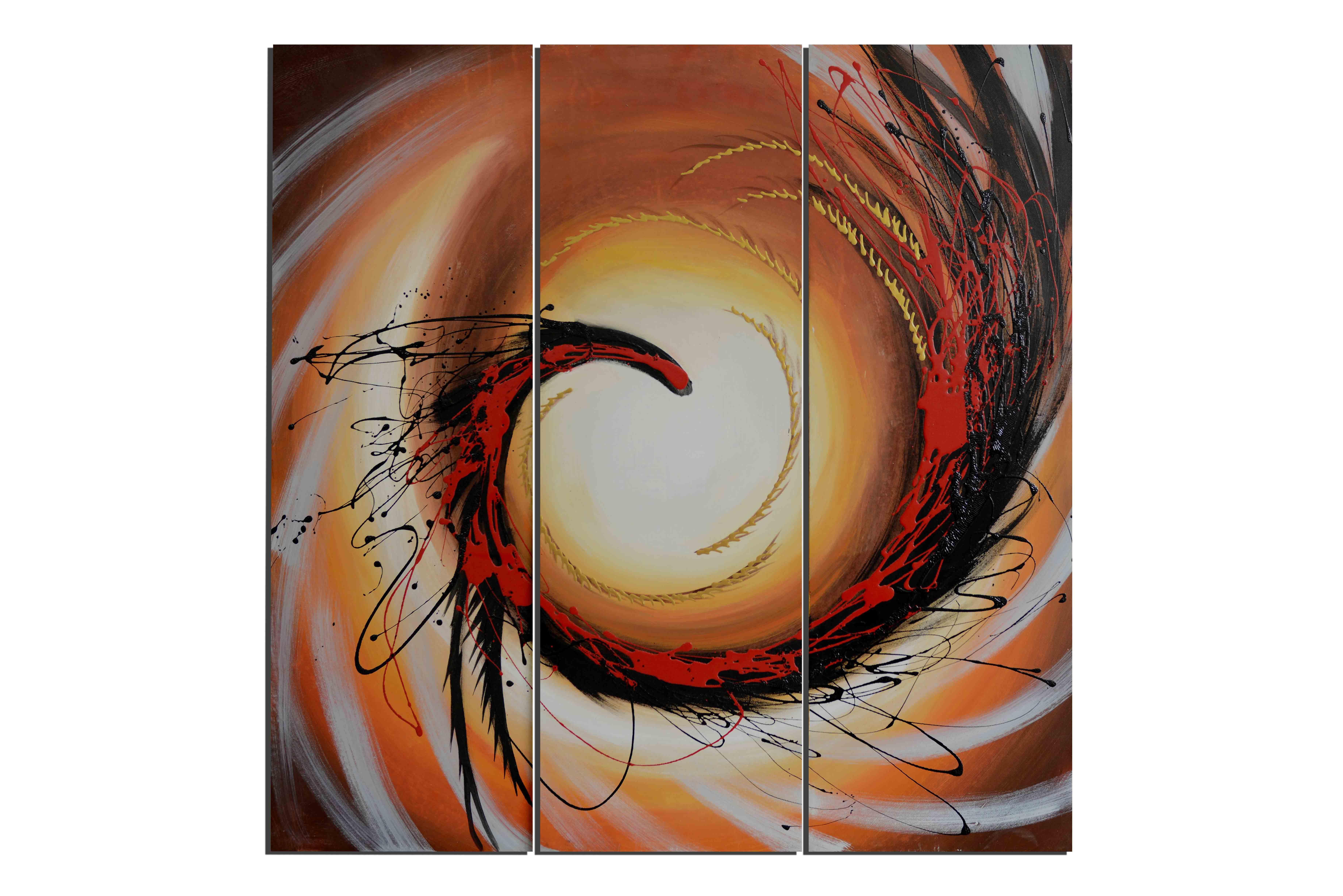 Tourbillon de blé - tableau peint-main peinture à l'huile