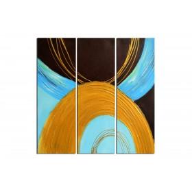 Collier africain - tableau peint-main peinture à l'huile