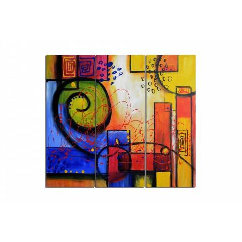 Bulles et éclaboussures - tableau peint-main peinture à l'huile
