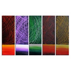 Camaieu de fils - tableau peint-main peinture à l'huile