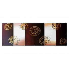 Suspensions de spirales - tableau peint-main peinture à l'huile