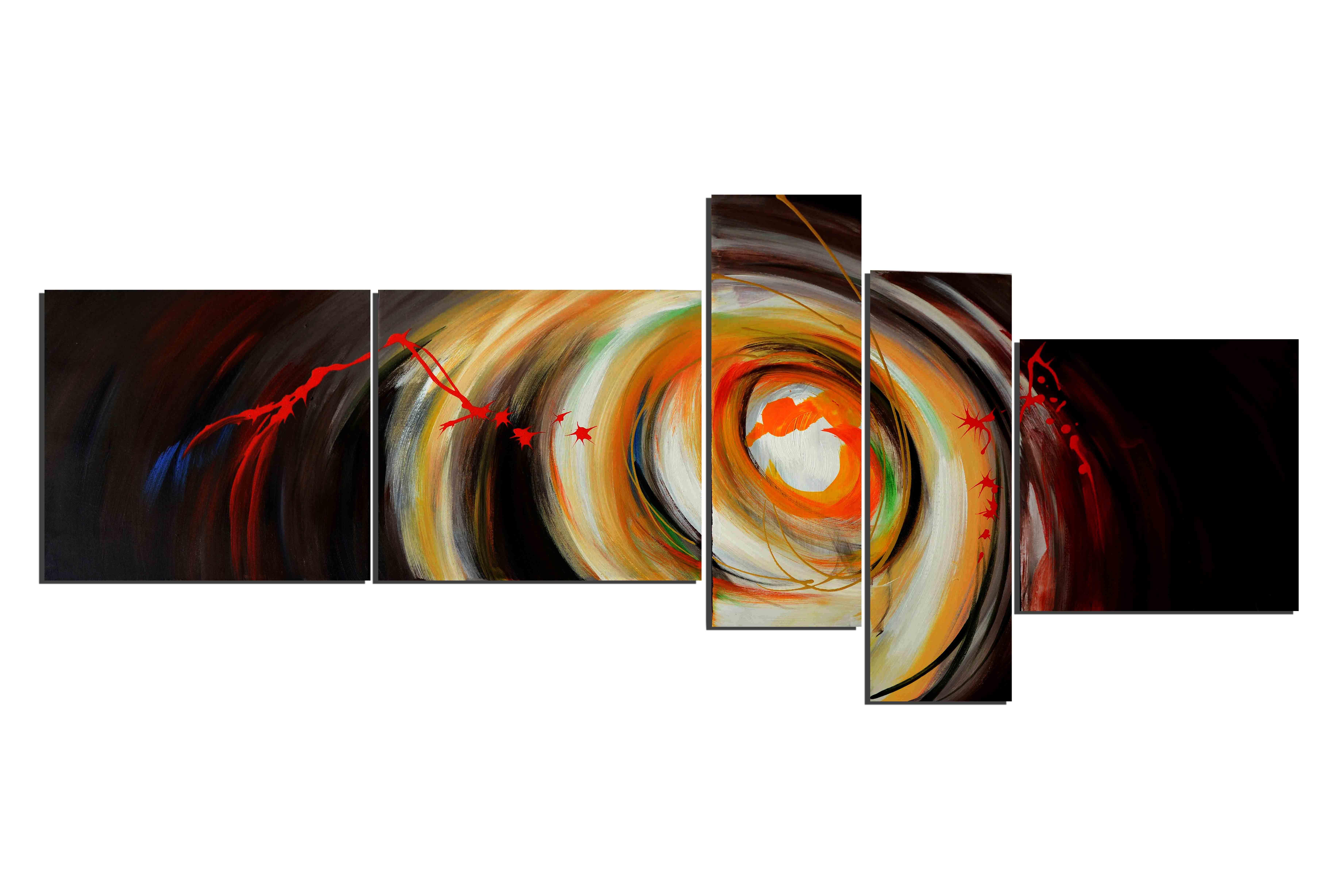 Dans l'oeil du cyclone - tableau peint-main peinture à l'huile